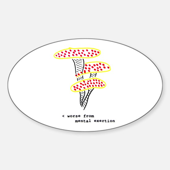 Toad Stool Oval Decal