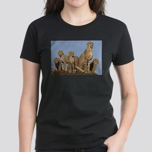 Cheetah mom and four cubs T-Shirt