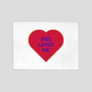 Ines Loves Me 5'x7'Area Rug