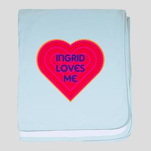 Ingrid Loves Me baby blanket