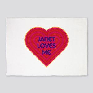 Janet Loves Me 5'x7'Area Rug