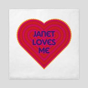 Janet Loves Me Queen Duvet