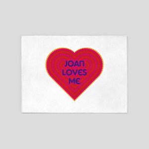 Joan Loves Me 5'x7'Area Rug