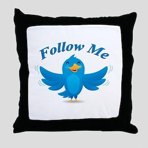 Twitte me on the street Throw Pillow