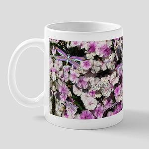 Dragonfly Flowers 11 oz Ceramic Mug