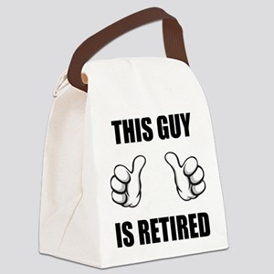 This Guy Is Retired Canvas Lunch Bag