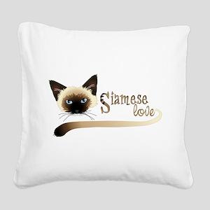 Siamese LOVE Square Canvas Pillow