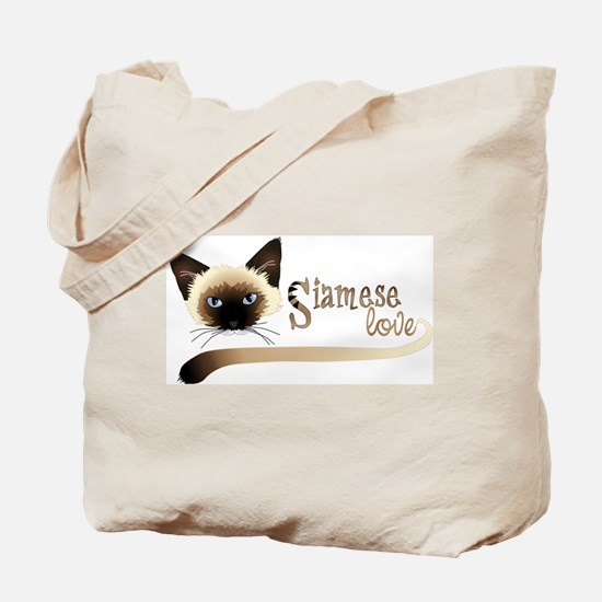 Siamese LOVE Tote Bag