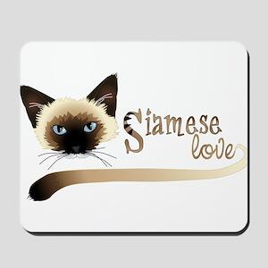 Siamese LOVE Mousepad