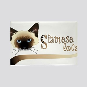 Siamese LOVE Rectangle Magnet