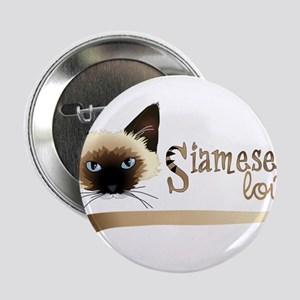 "Siamese LOVE 2.25"" Button"