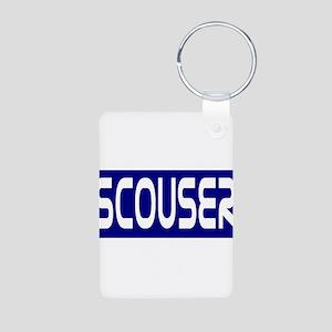 Scouser White on Bl... Keychains