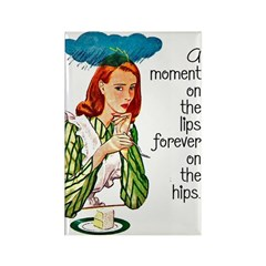 Moment On The Lips Rectangle Magnet