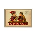 Antique Chicago Football Rectangle Magnet