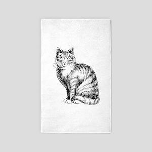 Cat 3'x5' Area Rug