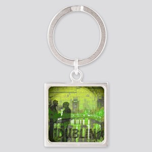 dublin ireland art illustration Square Keychain