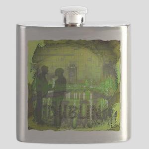 dublin ireland art illustration Flask
