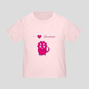 I Heart Dinosaurs toddler tee - pink
