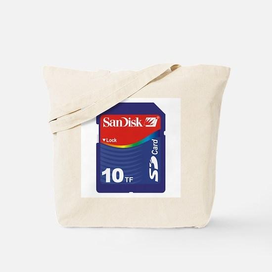 SD CARD 10TF PARODY Tote Bag