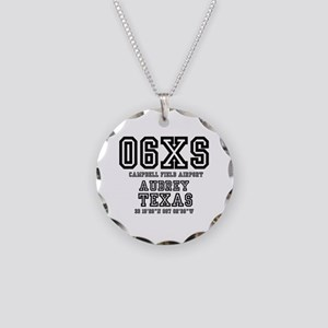TEXAS - AIRPORT CODES - 06XS Necklace Circle Charm