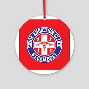 Steamboat Snow Addiction Clinic Ornament (Round)