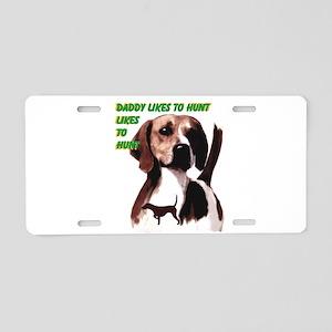 hunting hound Aluminum License Plate