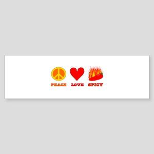 Peace Love Spicy Bumper Sticker