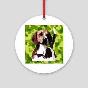 hunting hound Ornament (Round)