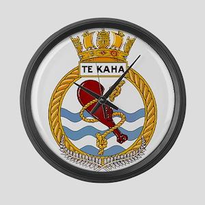 HMNZS Te Kaha Large Wall Clock
