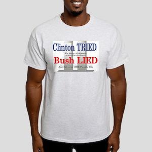 Clinton Tried - Bush Lied Ash Grey T-Shirt