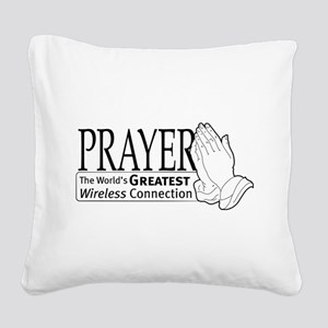 wireless-connection Square Canvas Pillow