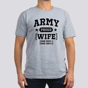 Army Wife/Aunt/Uncle Men's Fitted T-Shirt (dark)