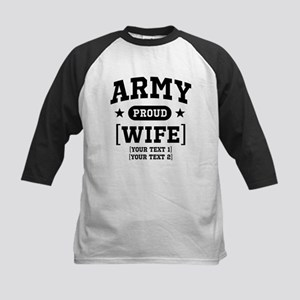 Army Wife/Aunt/Uncle Kids Baseball Jersey