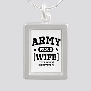 Army Wife/Aunt/Uncle Silver Portrait Necklace