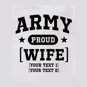 Army Wife/Aunt/Uncle Throw Blanket