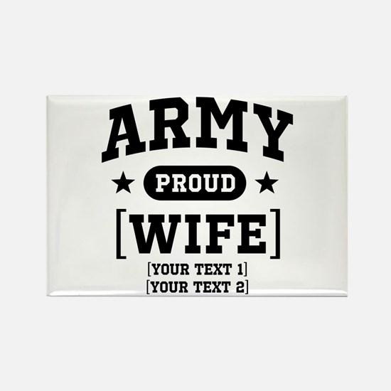 Army Wife/Aunt/Uncle Rectangle Magnet