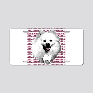 all american eskimo dog Aluminum License Plate