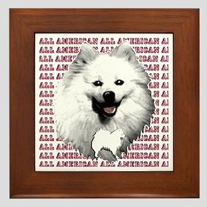 all american eskimo dog Framed Tile