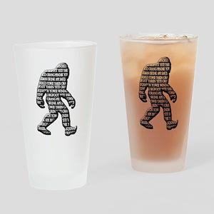 Bigfoot Yowie Sasquatch Skunk Ape Yeti Drinking Gl