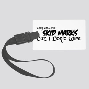 Skid Marks Luggage Tag