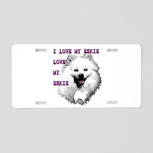 i love my eskie, american eskimo dog Aluminum Lice
