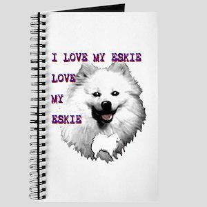i love my eskie, american eskimo dog Journal