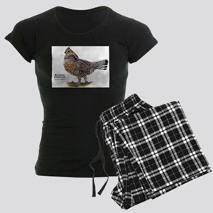 Ruffed Grouse Women's Dark Pajamas