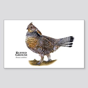Ruffed Grouse Sticker (Rectangle)