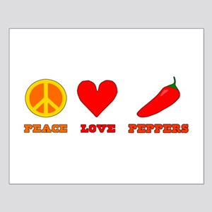 Peace Love Peppers Posters
