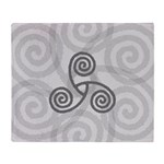 Celtic Triple Spiral Throw Blanket