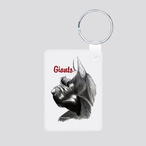 giant schnauzer Aluminum Photo Keychain