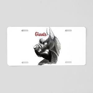 giant schnauzer Aluminum License Plate