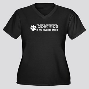 Rescued is My Favorite Breed Plus Size T-Shirt