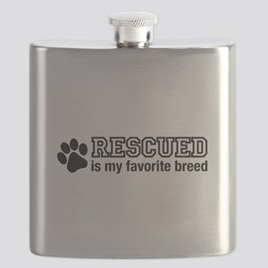 Rescued is My Favorite Breed Flask